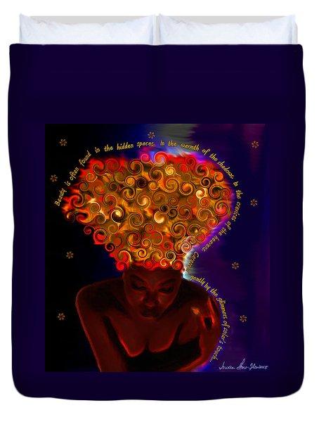 Oya Duvet Cover by Iowan Stone-Flowers