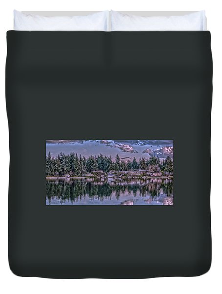 Oyster Bay 1 Duvet Cover by Timothy Latta