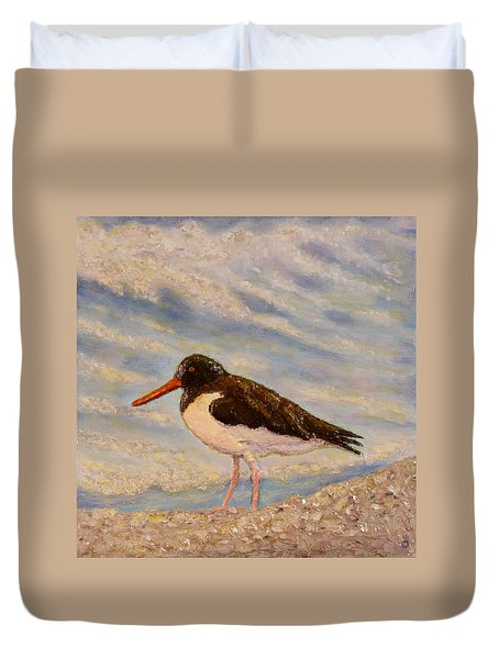 Oyster Catcher Duvet Cover by Joe Bergholm