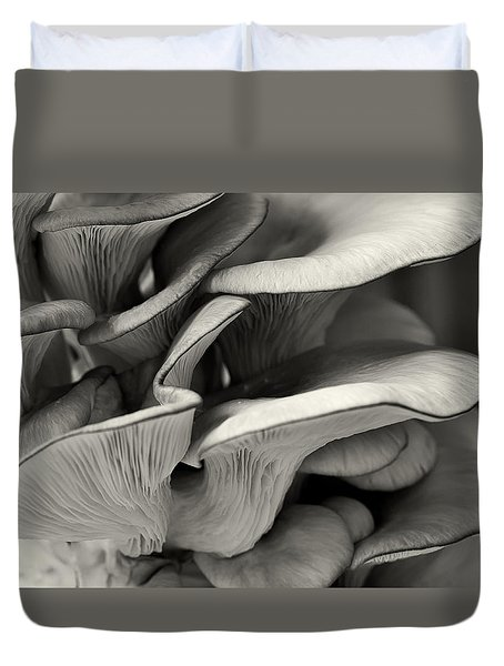Oyster Mushroom Abstract Lv Duvet Cover by Shirley Mitchell