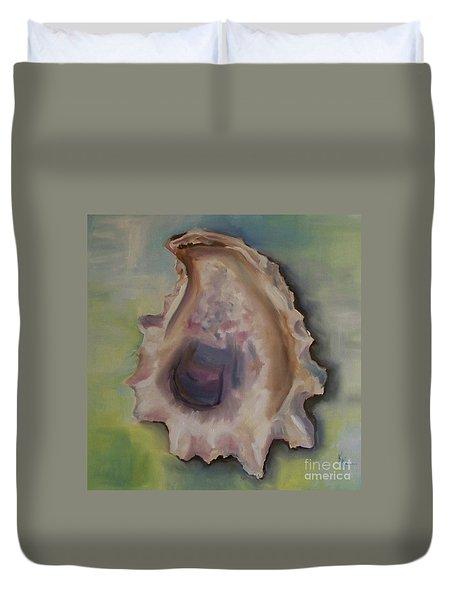 Oyster Shell Duvet Cover by Kristine Kainer