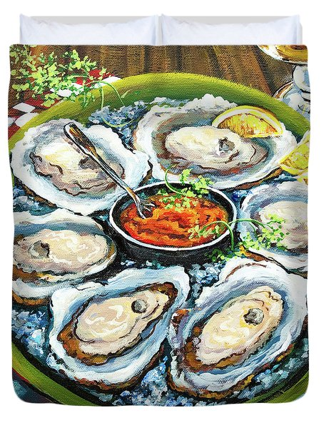 Oysters On The Half Shell Duvet Cover