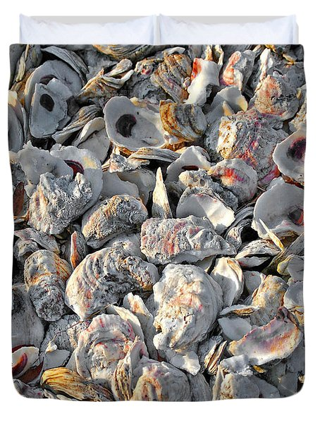 Oysters Shells Duvet Cover