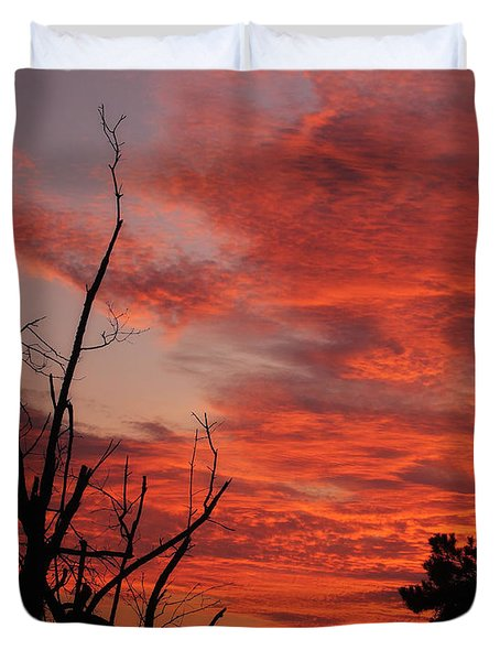 Duvet Cover featuring the photograph Ozark Dawn by Michael Dougherty