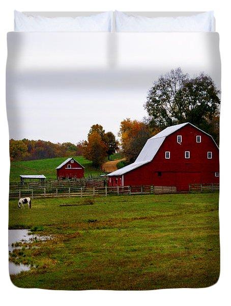 Ozark Farm Duvet Cover by Marty Koch