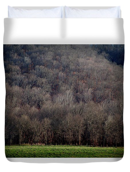 Ozarks Trees Duvet Cover