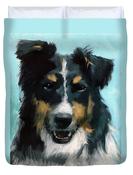 Ozzie Animal Dog Portrait Duvet Cover