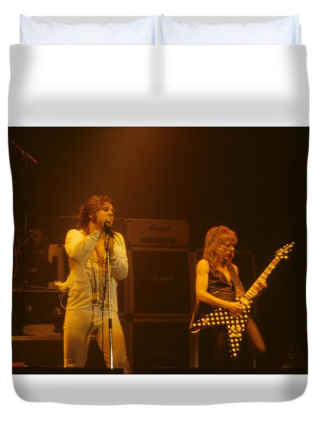 Ozzy Ozbourne And Randy Rhoads Duvet Cover