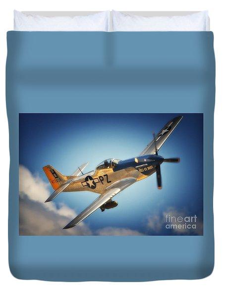 P-51 Mustang Hell Er Bust Duvet Cover