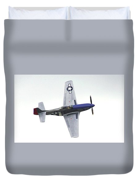 P-51 D Wing Over Duvet Cover