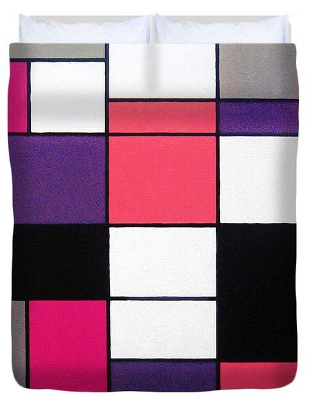 P Cubed Duvet Cover by Oliver Johnston