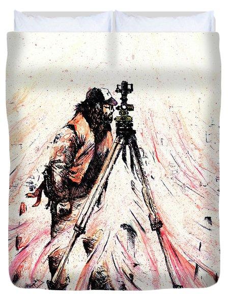 P J Duvet Cover by Rachel Christine Nowicki