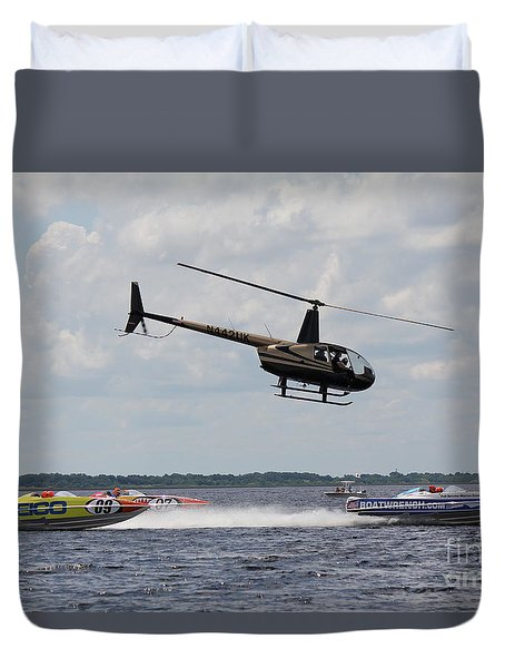 P1 Powerboats Duvet Cover