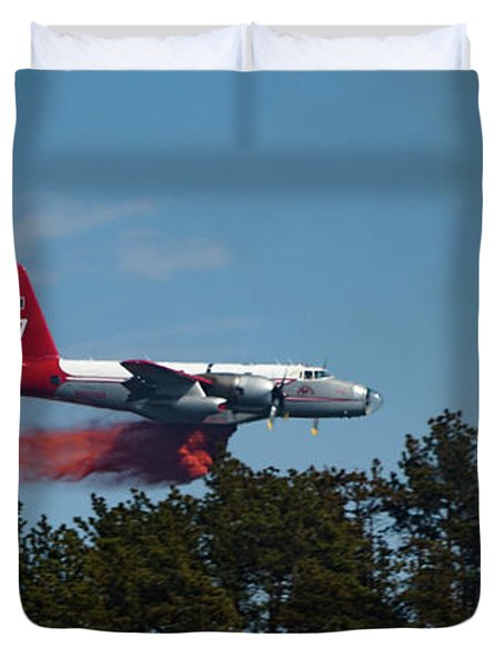 Duvet Cover featuring the photograph P2v Red Canyon Fire by Bill Gabbert