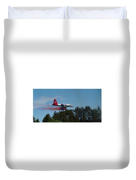 P2v Red Canyon Fire Duvet Cover
