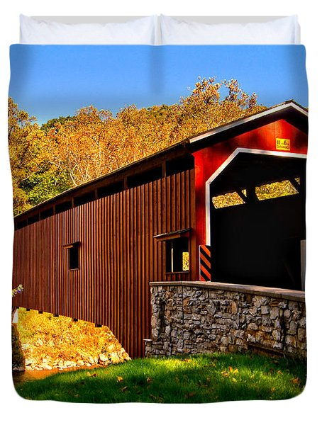Pa Covered Bridge Duvet Cover