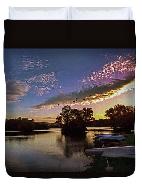 Pa French Creek 2074 Duvet Cover by Scott McAllister