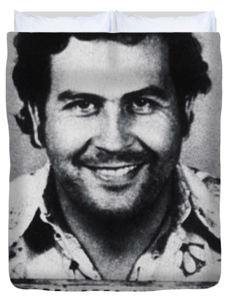 Pablo Escobar Mug Shot 1991 Vertical Duvet Cover