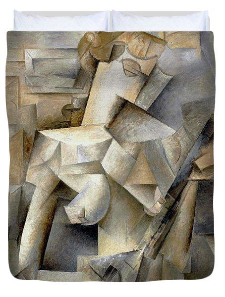 Pablo Picasso Girl With A Mandolin 1910 Duvet Cover