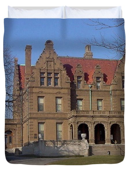 Pabst Mansion Photo Duvet Cover by Anita Burgermeister