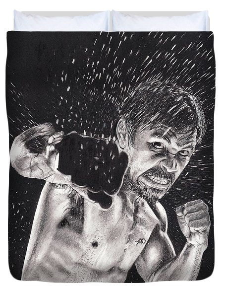 Pac-man Duvet Cover by Joshua Navarra