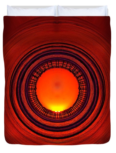 Pacific Beach Pier Sunset - Abstract Duvet Cover