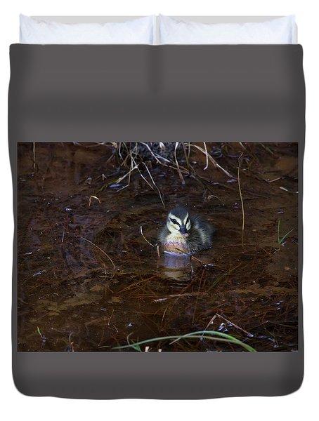 Duvet Cover featuring the photograph Pacific Black Duckling by Miroslava Jurcik
