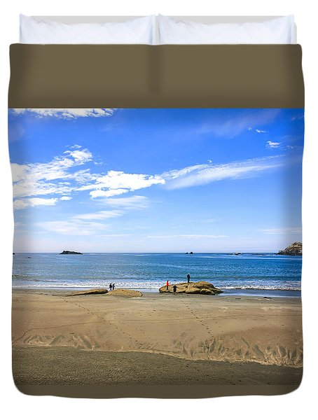 Pacific California Duvet Cover by Chris Smith