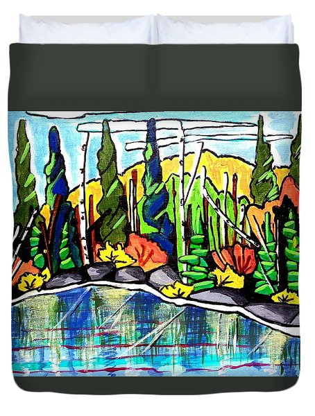 Pacific Coast Forest Duvet Cover