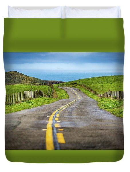 Pacific Coast Road To Tomales Bay Duvet Cover