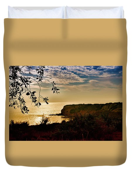 Pacific Cove Paradise Duvet Cover by Joseph Hollingsworth