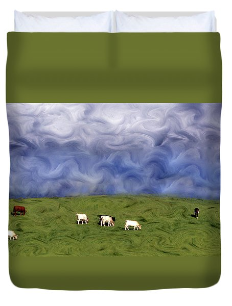Pacific Cows Duvet Cover