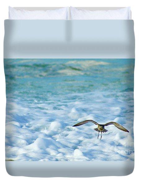 Pacific Golden Plover Flying Duvet Cover