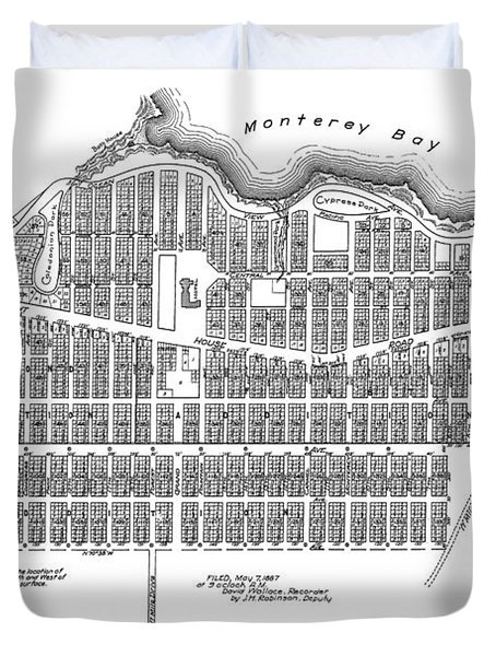 Pacific Grove May 7 1887 Duvet Cover by California Views Mr Pat Hathaway Archives