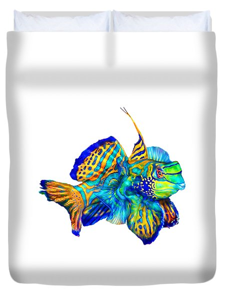 Pacific Mandarinfish Duvet Cover