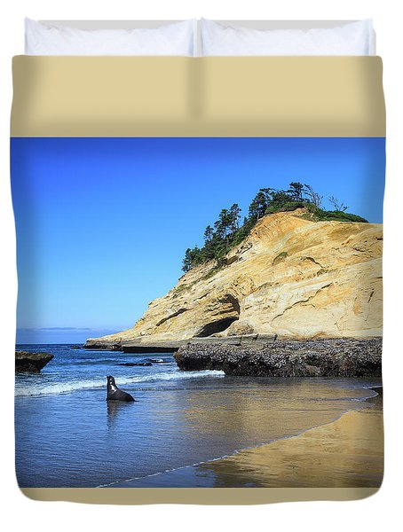 Pacific Morning Duvet Cover