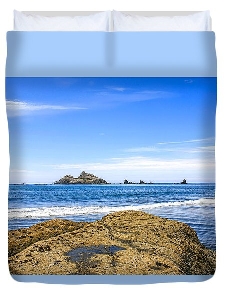 Pacific North West Coast Duvet Cover by Chris Smith