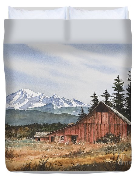 Pacific Northwest Landscape Duvet Cover