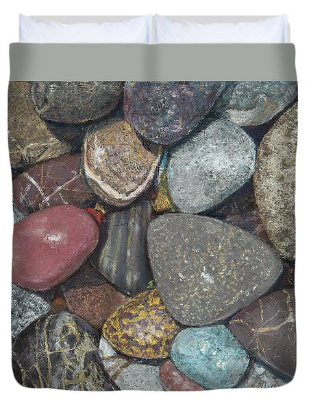 Pacific Nw Beach Rocks Duvet Cover