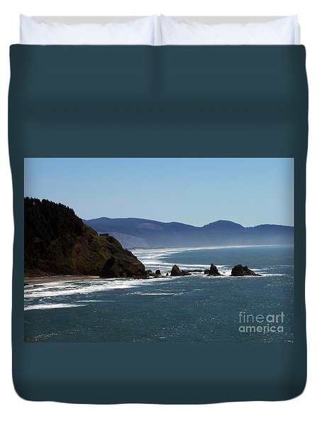 Pacific Ocean View 2 Duvet Cover by Chalet Roome-Rigdon