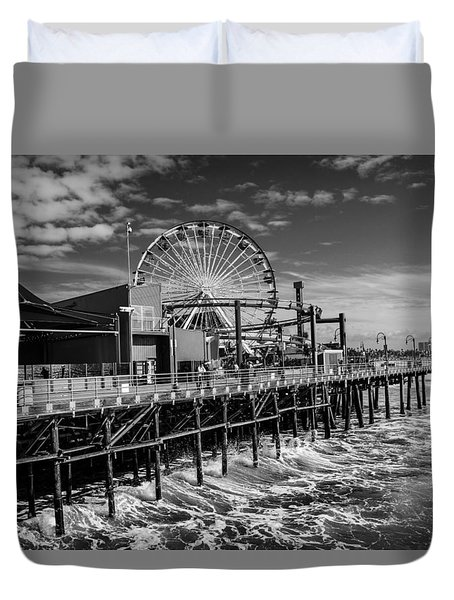 Pacific Park Bw Duvet Cover