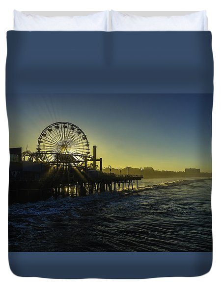 Pacific Park Ferris Wheel Duvet Cover