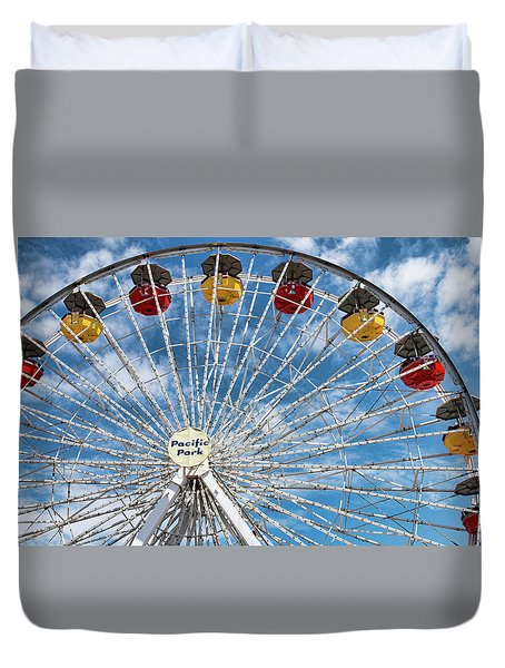 Pacific Park Ferris Wheel Duvet Cover
