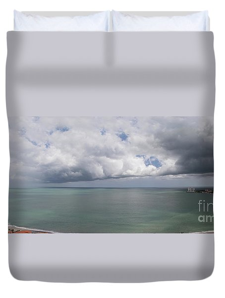 Pacific Storm Panorama Duvet Cover