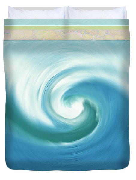 Pacific Swirl With Border Duvet Cover