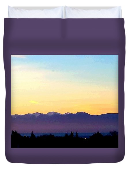 Pacific Twilight Duvet Cover