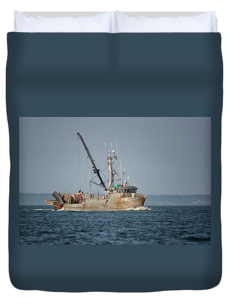 Pacific Viking Duvet Cover