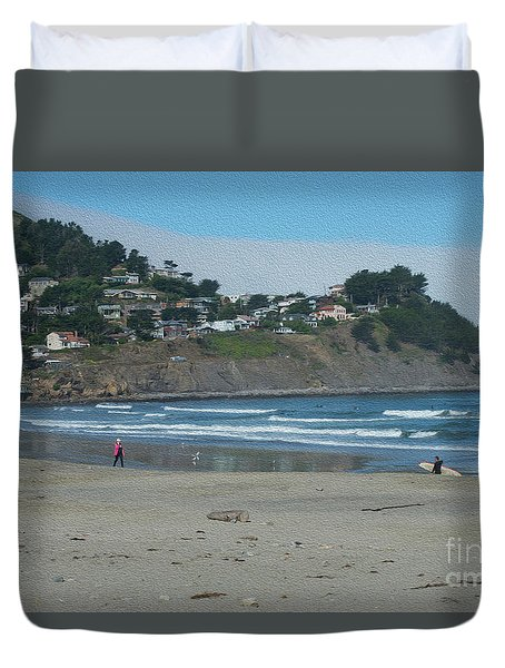 Duvet Cover featuring the photograph Pacifica California by David Bearden
