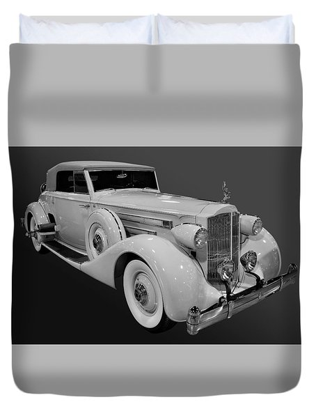 Packard In Bw Duvet Cover by Bill Dutting