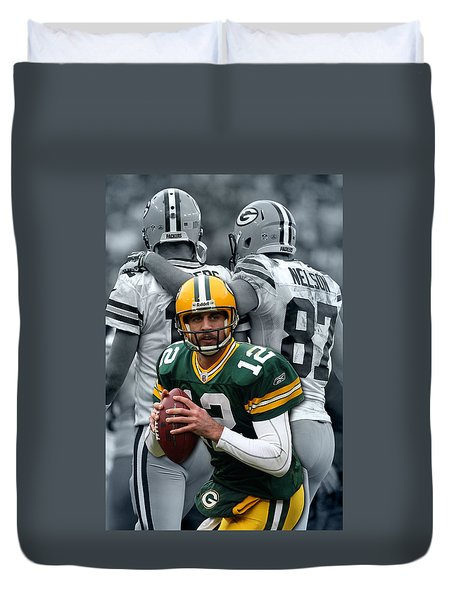 Packers Aaron Rodgers Duvet Cover